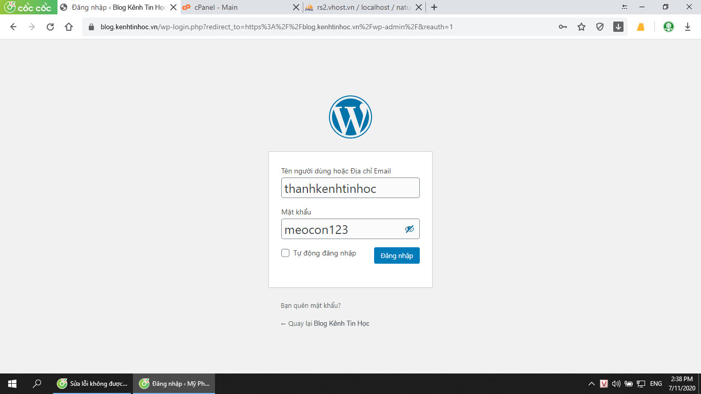 """Sửa lỗi WordPress """"Sorry, you are not allowed to access this page"""""""