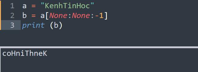 Đảo ngược toàn bộ giá trị chuỗi trong Python