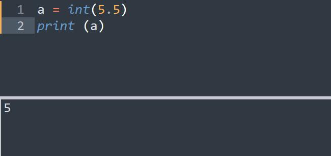 Ép kiểu float thành kiểu int trong Python