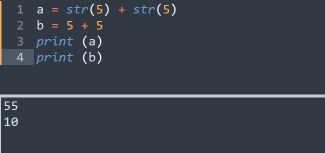 Ép kiểu số thành kiểu chuỗi trong Python