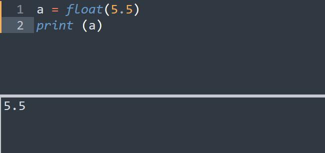 Ép kiểu dữ liệu thành kiểu float trong Python