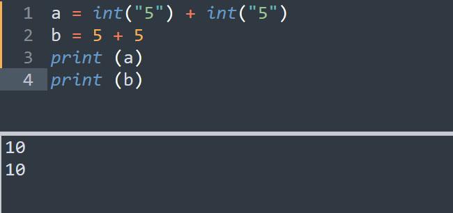 Ép kiểu dữ liệu thành kiểu int trong Python
