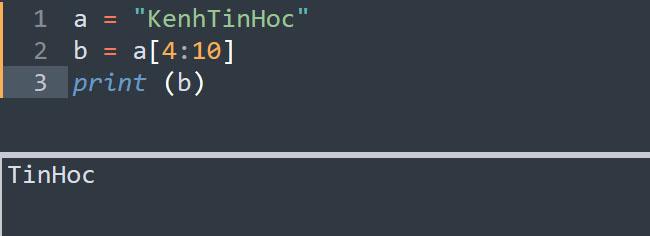 Tách lấy từ một vị trí nào đó đến cuối chuỗi trong Python