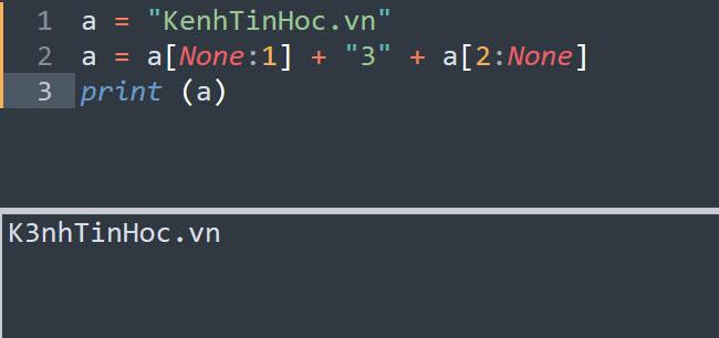 Thay đổi nội dung chuỗi trong Python bằng cách tách và nối chuỗi