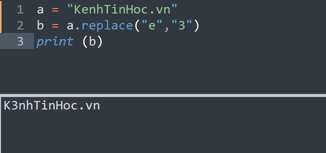 Thay đổi nội dung chuỗi trong Python bằng hàm replace