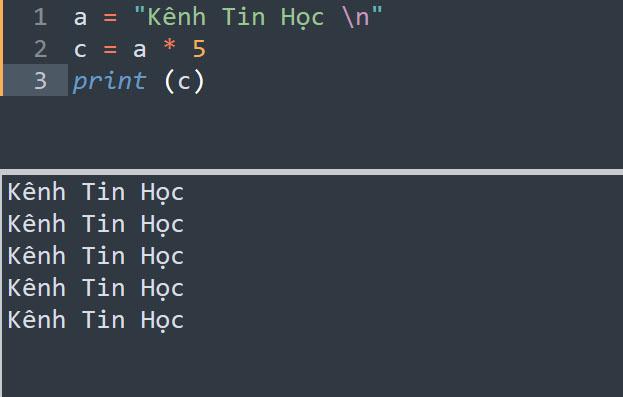 Toán tử nhân chuỗi trong Python