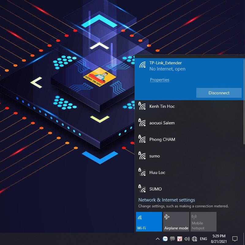 Đã kết nối với TP-Link_Extender thành công