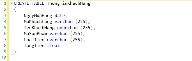Cách tạo bảng trong SQL bằng lệnh Create Table