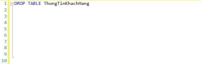 Cách xóa bảng trong SQL bằng lệnh Drop Table