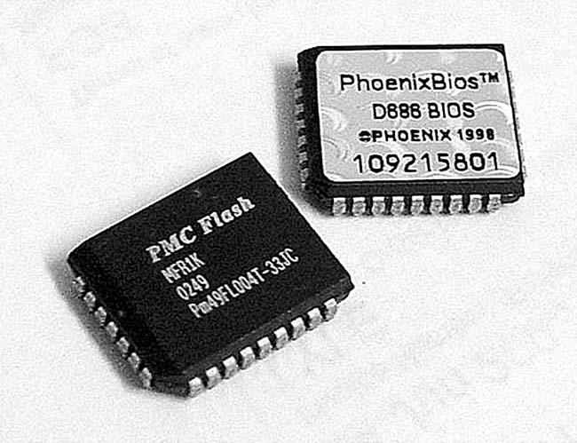 ROM BIOS PMC Flash và PhoenixBios