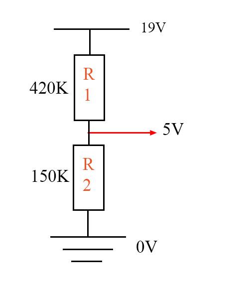Ví dụ tính cầu phân áp 2 điện trở