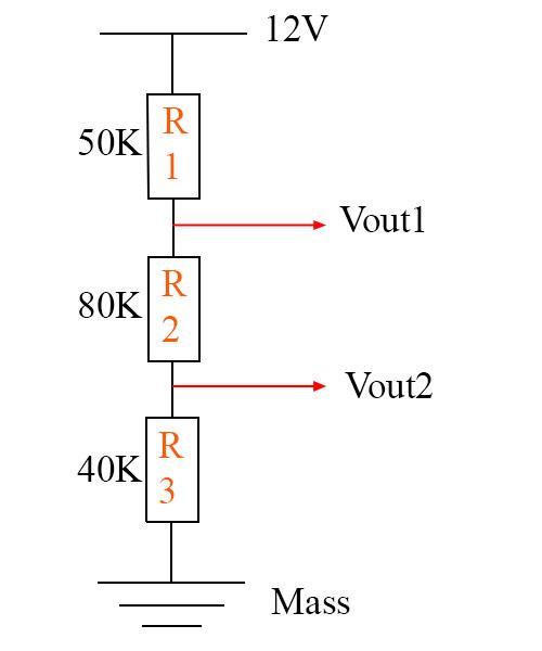 Ví dụ tính cầu phân áp 3 điện trở