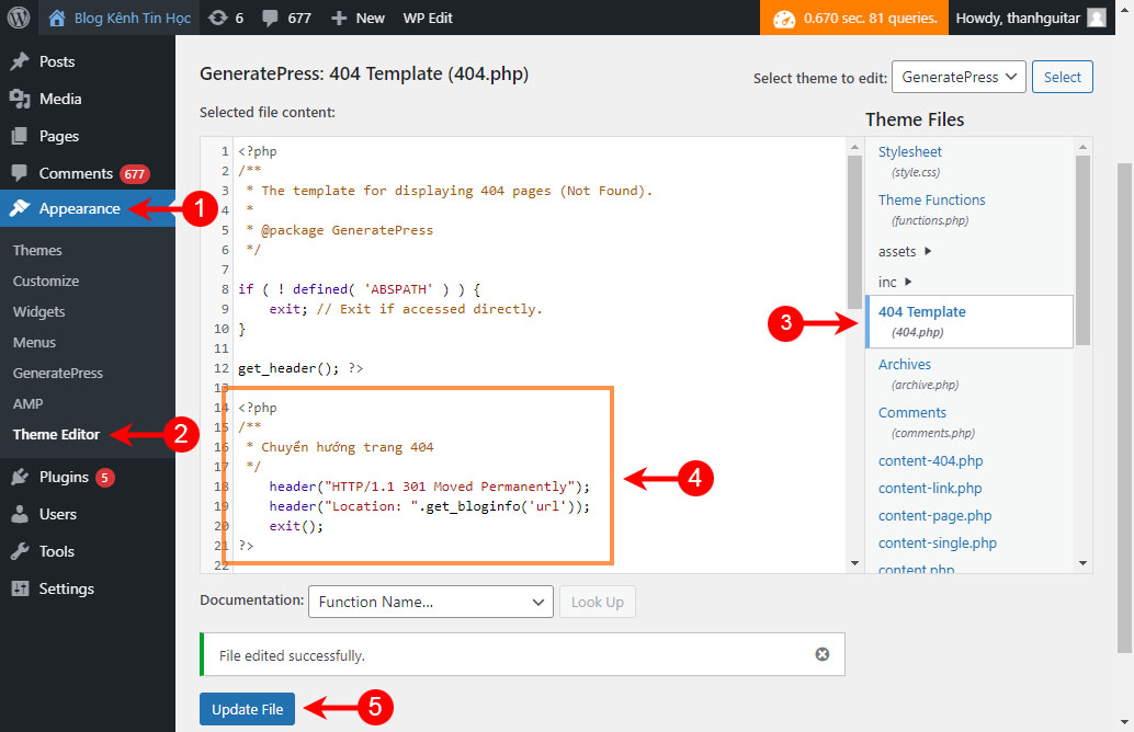 Cách redirect 404 trong WordPress bằng code php