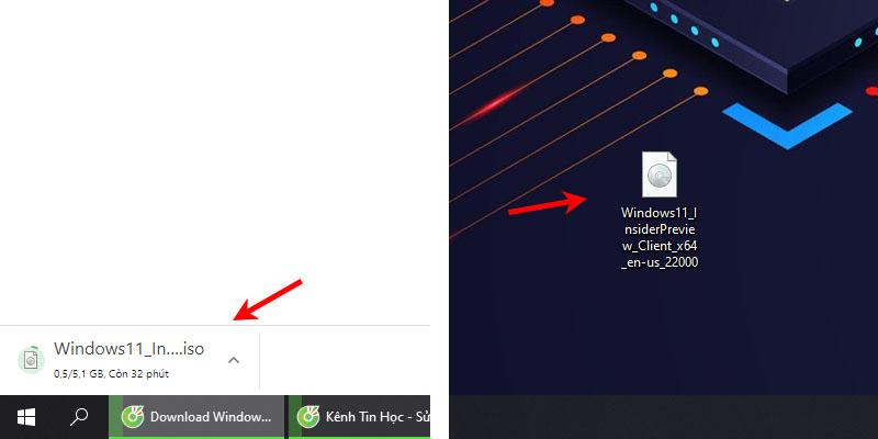 File ISO Windows 11 sau khi tải về